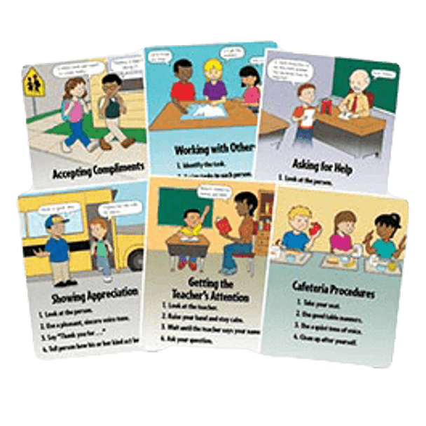 School Social Skills and Procedures Poster Set