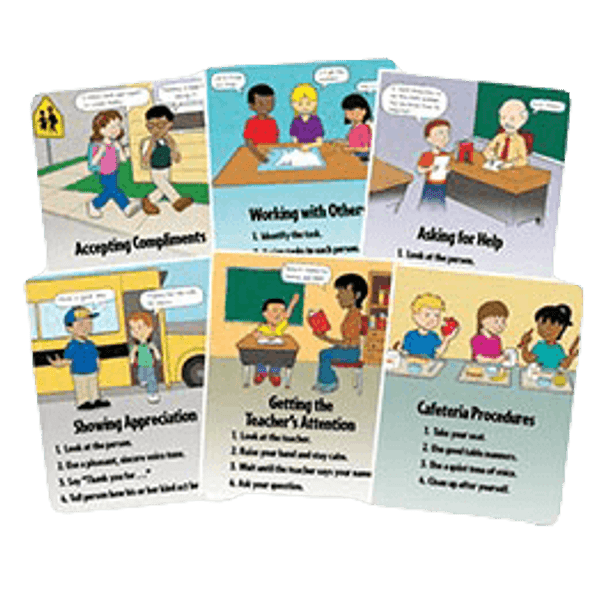 School Social Skills and Procedures Poster Set, Laminated