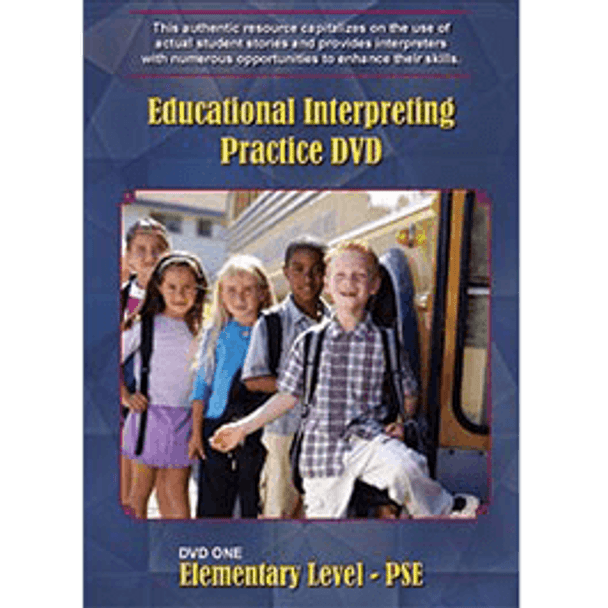 Educational Interpreting Practice DVD 1: Elementary Level - PSE