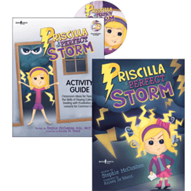 Book Covers of Priscilla & the Perfect Storm Storybook and Activity Guide