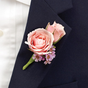Pink Ring Bearer Boutonniere