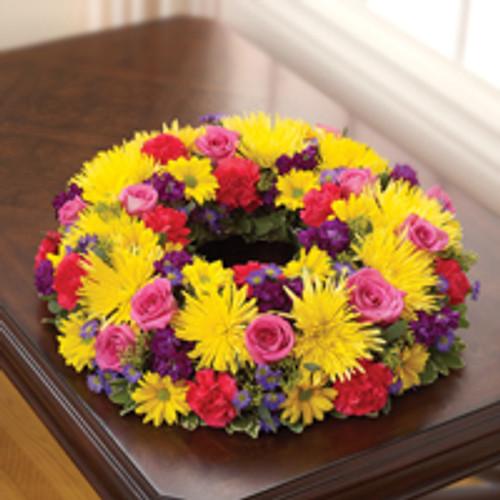 Multicolor Bright Cremation Wreath