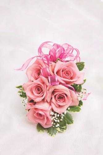 Pink Rose Corsage