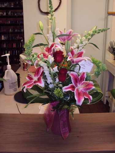 Happy Anniversary Babe! Lilly's, Roses, Snaps, Bells.