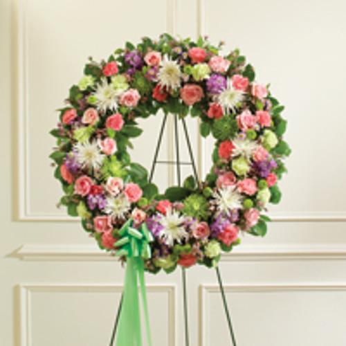 Multicolor Pastel Mixed Flower Wreath