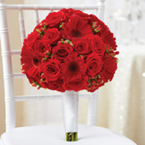 All Red Bridal Bouquet