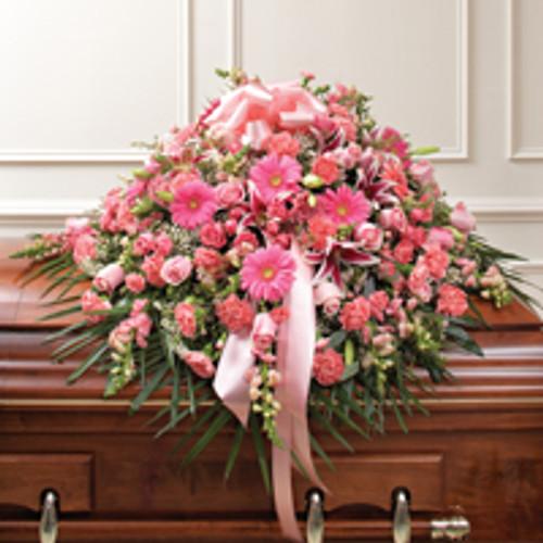 Pink Mixed Half Casket Cover