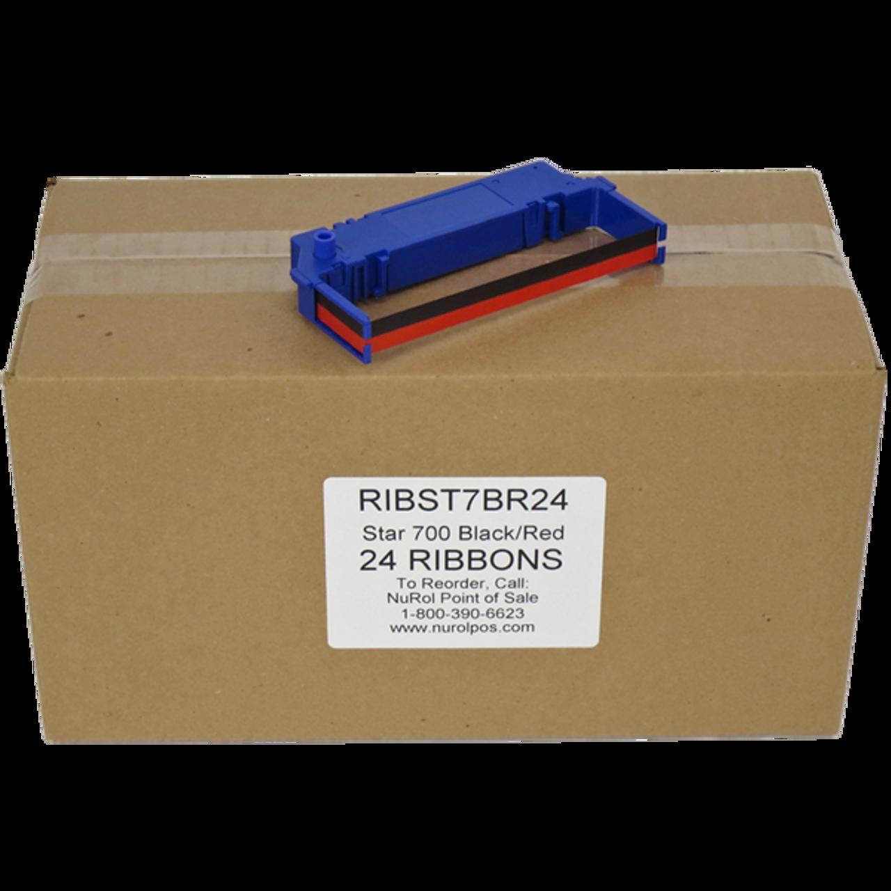 Compatible Star SP700 Printer Ribbon Black Red RC700BR 3 PACK