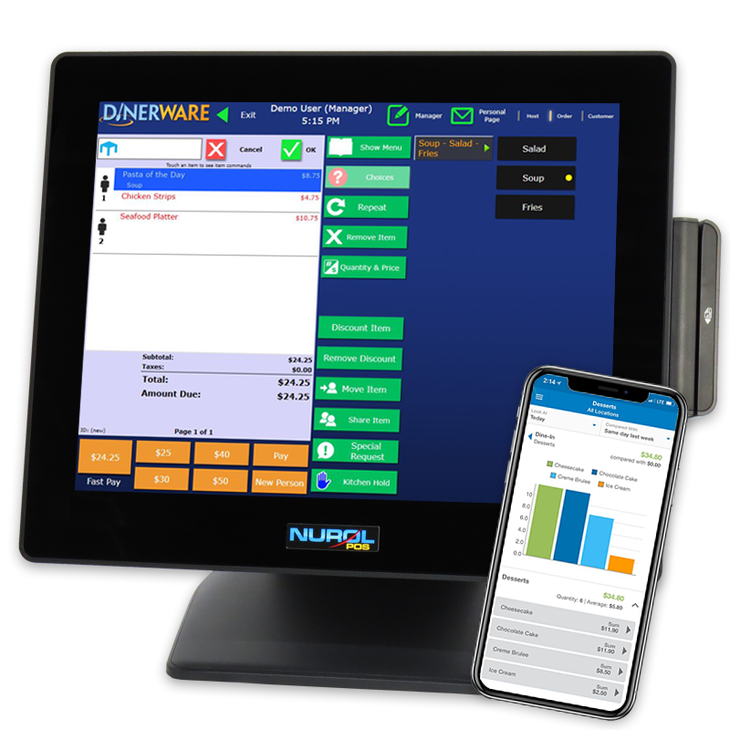 Heartland Dinerware Restaurant System and Mobile Manager