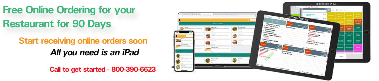 Free Online Ordering for your restaurant for 90 days