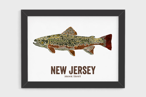 New Jersey State Fish Art - Brook Trout