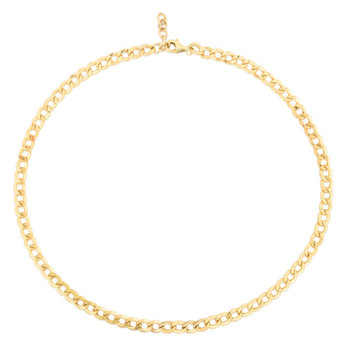 TriBeCa Curb Chain Necklace, 14k yellow gold - Urbaetis Fine Jewelry