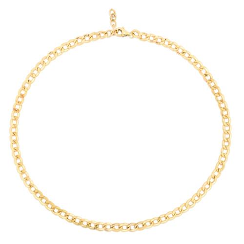 TriBeCa Curb Chain Necklace, 14k yellow gold - Urbaetis Fine Jewelry