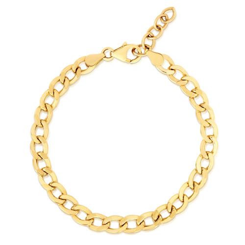 TriBeCa Curb Chain Bracelet, 14k gold - Urbaetis Fine Jewelry