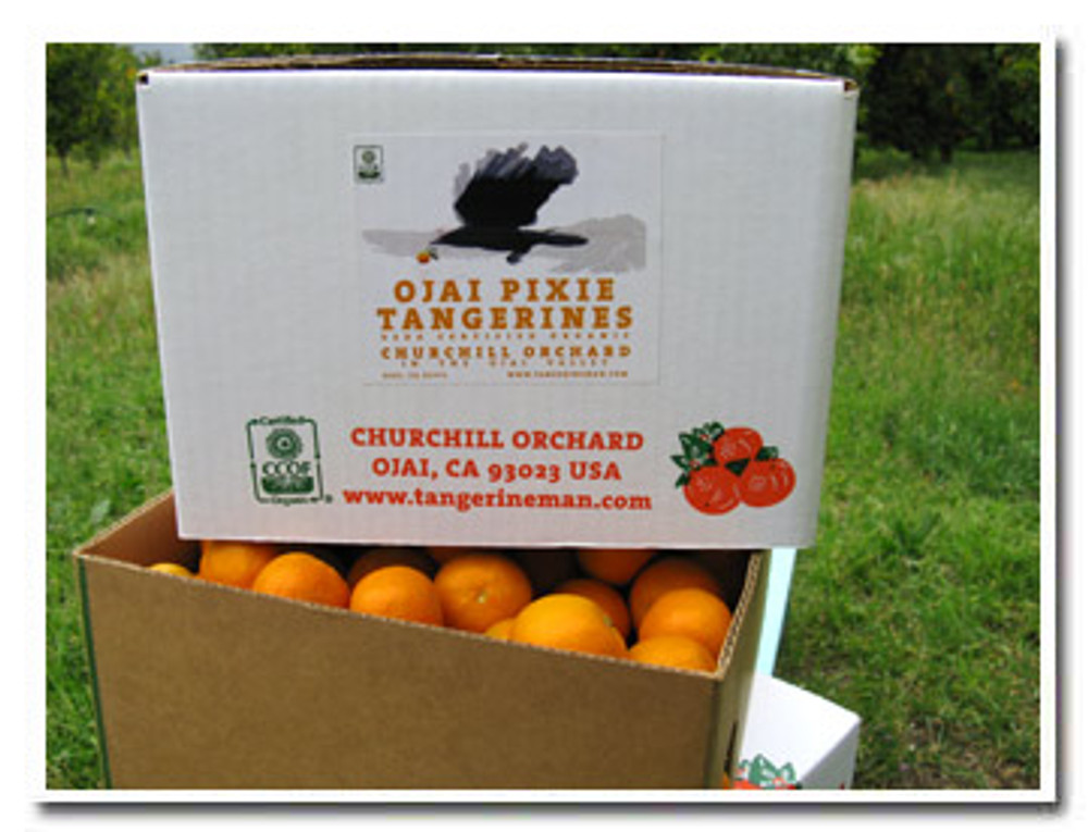 Our certified organic Ojai Pixie Tangerines are also available in money saving 25-lb cartons.