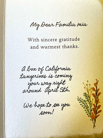 You can enter a personalized message - or photograph and upload a handwritten message.
