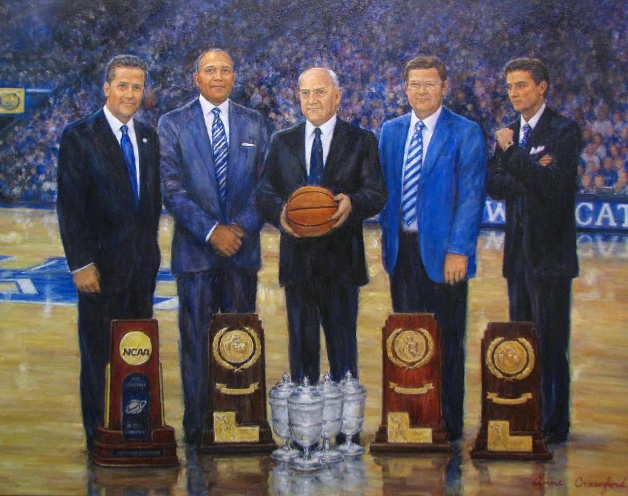 KENTUCKY WILDCATS 2012 National Champions ART john calipari UK basketball SEC