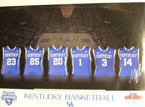 2012 Jersey Poster signed by Michael Kidd-Gilchrist