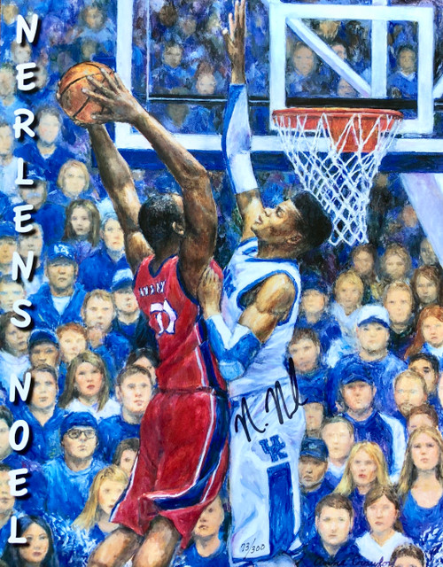 Block Shot signed by Nerlens Noel