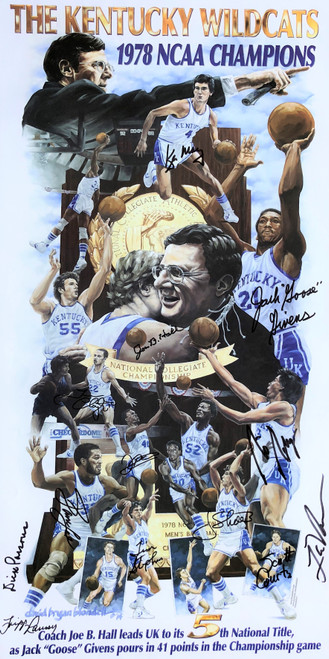 1978 Championship poster signed by team members and coaches at the 40th Team Reunion