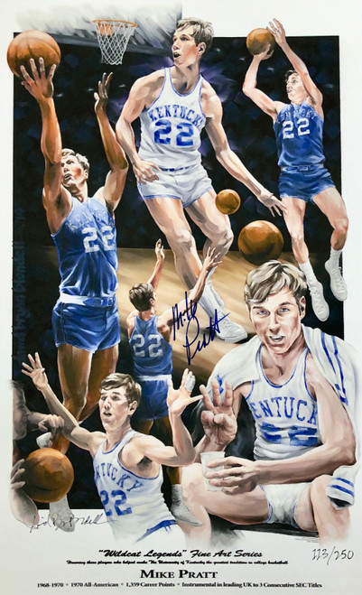 "Mike Pratt ""Wildcat Legend"" hand signed by Mike Pratt"