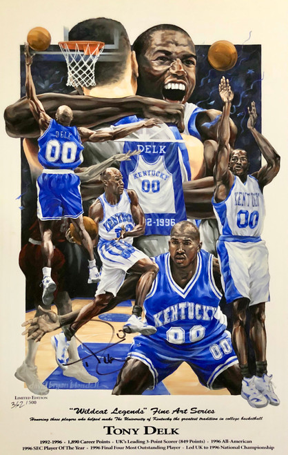 "Tony Delk ""Wildcat Legend"" print signed by Tony Delk"