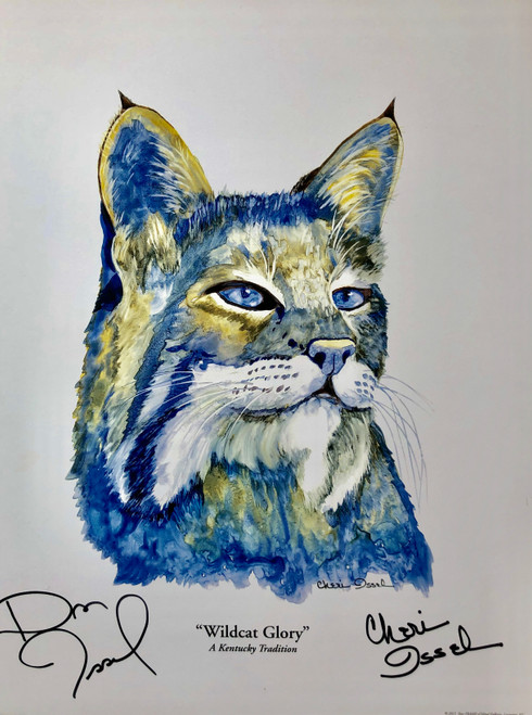 """Wildcat Glory""  signed by Dan & Cheri Issel 11x14"