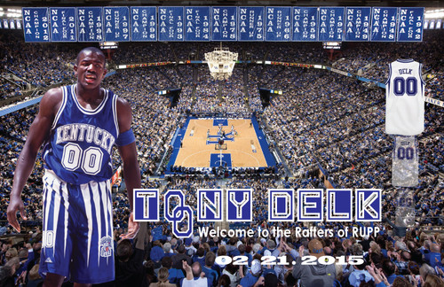Tony Delk Jersey Retirement Poster  $35 signed
