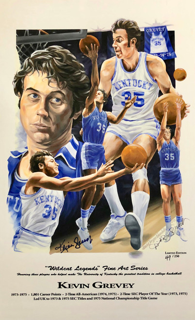 "Kevin Grevey ""Wildcat Legend"" hand signed by Kevin Grevey"