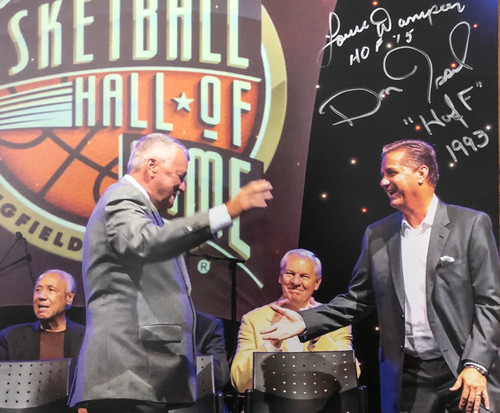 2015 Hall of Fame Induction Photo hand signed by Dan Issel & Louie Dampier along side Coach John Calipari whose induction was the same year.