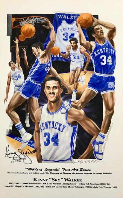"""Kenny """"Sky"""" Walker Wildcat Legend print hand signed by Kenny """"Sky"""" Walker"""