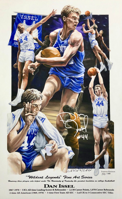 "Dan Issel ""Wildcat Legend"" hand signed by Dan Issel"