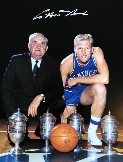 Cotton Nash with Coach Adolph Rupp