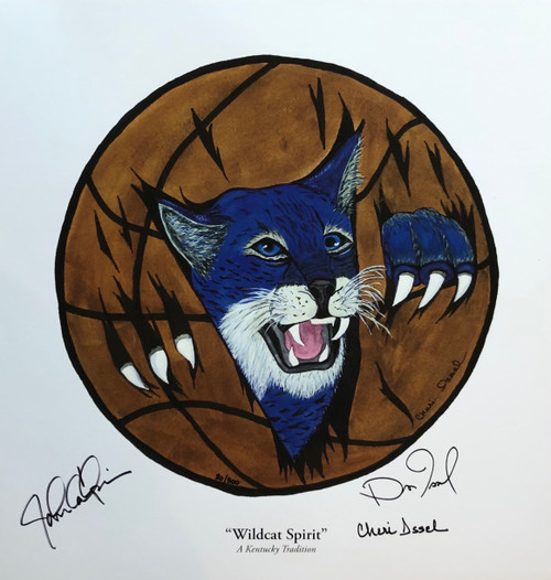 "17""W x 18""H print signed by John Calipari, Dan Issel and Artist Cheri Issel"