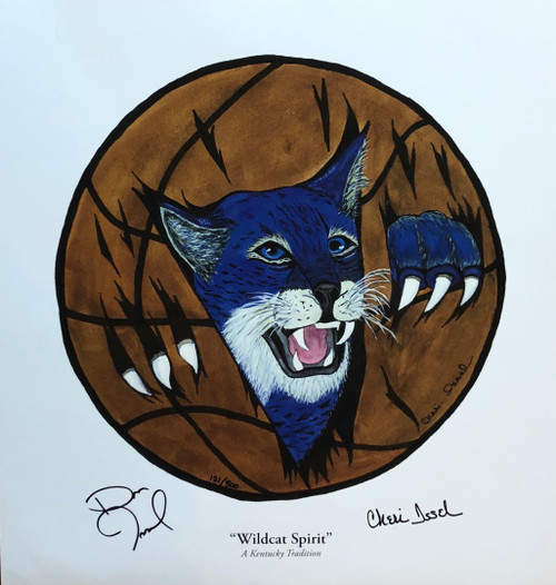 "17""W x 18""H print signed by Dan Issel and Artist Cheri Issel"