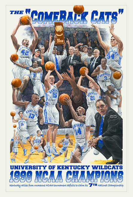 "1998 NCAA Champions Poster ""Comeback Cats"""