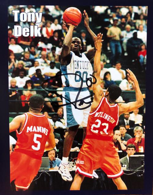 TONY DELK signed 8x10