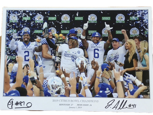 2019 Citrus Bowl Champion poster signed by Josh Allen and CJ Conrad