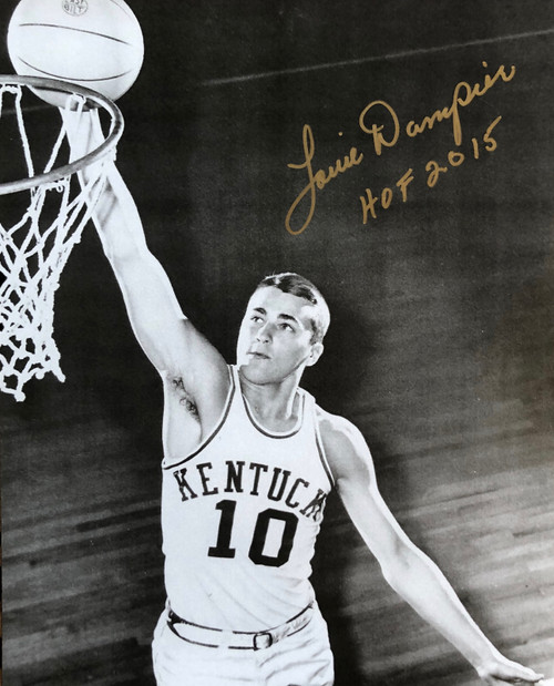 Louie Dampier signed 8x10