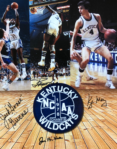 1978 Champions 11x14 signed by Coach Hall, Jack Givens, James Lee and Kyle Macy