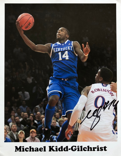 Michael Kidd-Gilchrist 11x14 signed