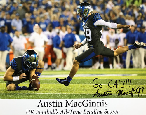 Austin MacGinnis All Time Leading Scorer 17x11 signed print