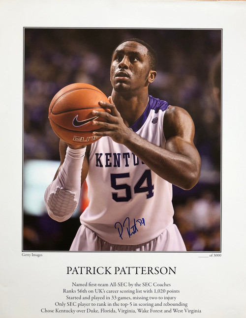 Patrick Patterson signed print 15.5x19.5