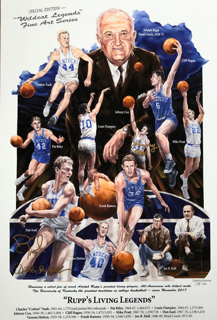 Signed by Johnny Cox, Dan Issel and artist David Blondell
