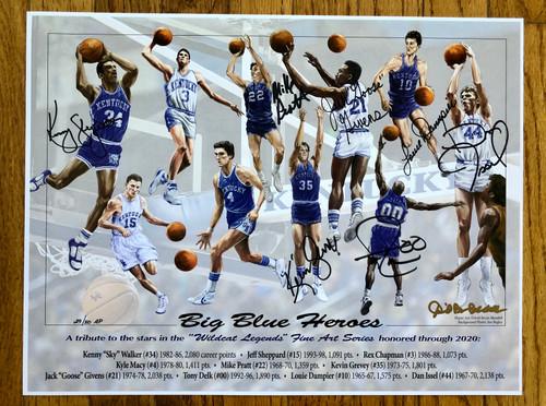 Big Blue Heroes Print signed 7