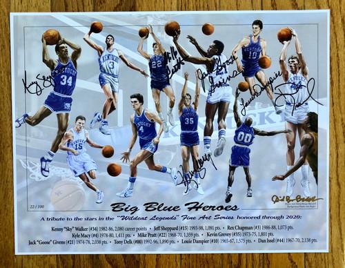 Big Blue Heroes Print 17x13 signed 6