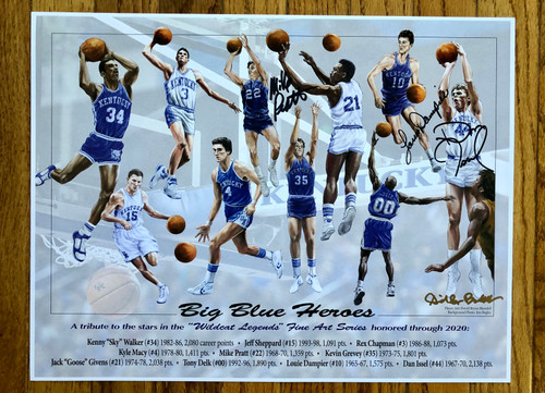 Big Blue Heroes print signed 3