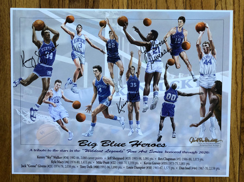 Big Blue Heroes 17x13 signed 3