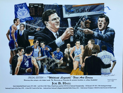 """Wildcat Legends"" Joe B. Hall signed 4"