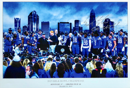 2019 Belk Bowl Champions signed Mark Stoops $65.00 print size 19x13